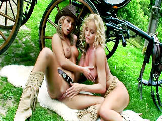 Silvia And Her Friend - Carriage Striptease Silvia Saint