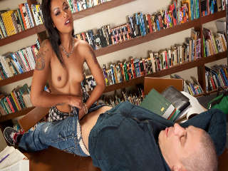 Skin Has Sex In A Library Mick Blue & Skin Diamond
