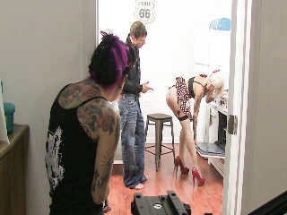 Sheena and Kleio Behind The Scenes Joanna Angel & Mr.Pete