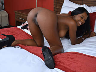 Shy Ebony Babe Goes Wild Christie Sweet