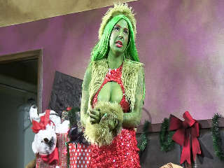 Behind How The Grinch Gaped Christmas Joanna Angel & Krissie Dee