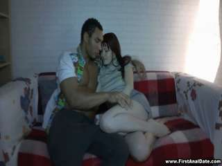 Redhead's first interracial anal Galina