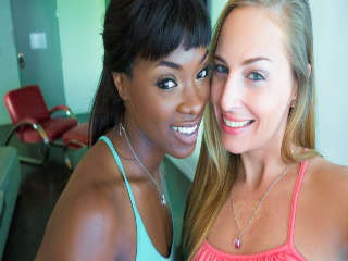 A Hot Stroll Down the Boulevard Ana Foxxx & Roxy Rox