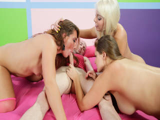 Sinful Allison, Britney and Savannah Are Blowjob Angels