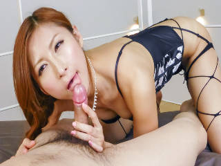 Two pussy starving dicks for Reira Aisaki to please