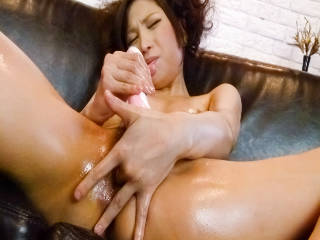 Elegant and slutty Japanese girl Tsubasa Aihara plays with a toy