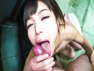 Giggly Megumi Shino fingers her furry muff until she is soaking wet.
