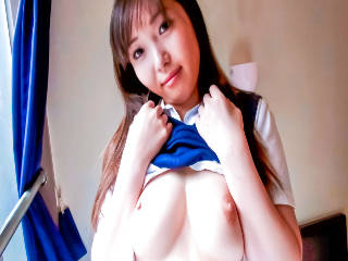 Schoolgirl Reina has her body fondled by a horny guy
