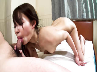 Beautiful Yuu Sakura is fed a hard dick in her mouth and her pretty pussy