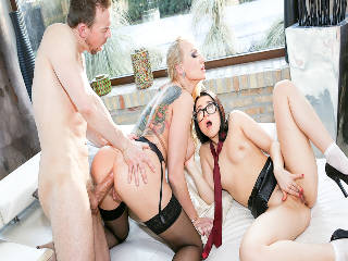 Bratty Teen, MILF Stepmom, Anal 3-Way!