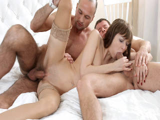 Surprise threesome with anal
